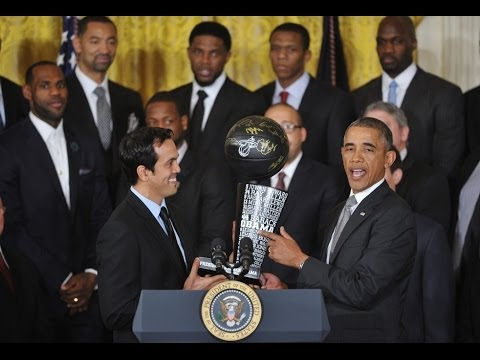 Miami Heat Honored by President Barack Obama at White House