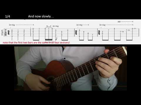 Metallica Fight Fire With Fire acoustic intro arranged for one guitar