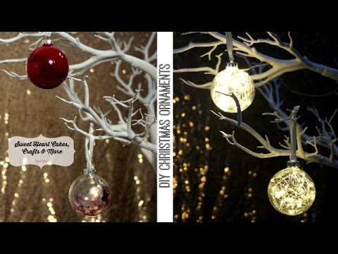 DIY Christmas Ornaments - Glass Xmas Bauble Decorations.