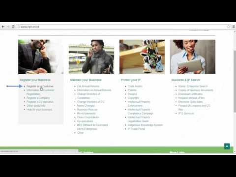 How To Register A Company In South Africa 2016 | STEP 1: How To Open A CIPC Customer Account
