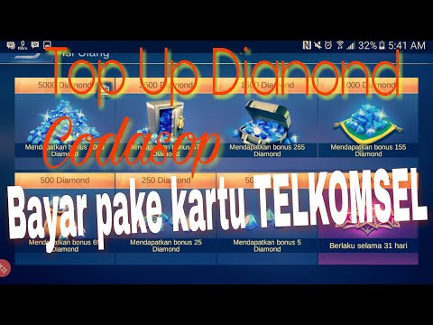 Tutorial Top Up Diamond Codashop ,Pake Kartu Telkomsel Kena Pajak : Mobile Legends