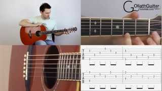 Silent night easy fingerstyle guitar lesson tutorial tabs mp3