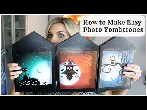 How to Make Easy Photo Tombstones Halloween DIY