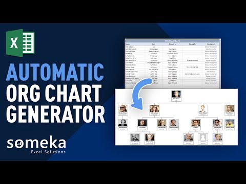 Automatic Org Chart Generator With Photos - Premium Excel Tool