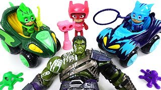 Thor fell to the bad Hulk! sally! PJ Masks Hero Boost Catboy, Owlette, gekko mobile! - DuDuPopTOY