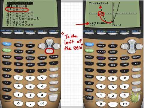 C2 - How to find zeros using TI Calculator