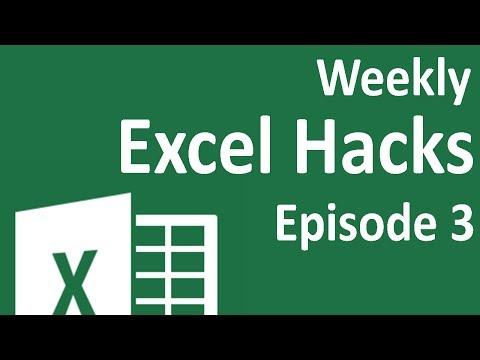 Weekly Excel Hacks - Episode 03 - Transpose/Smooth Graphs/Speed up code