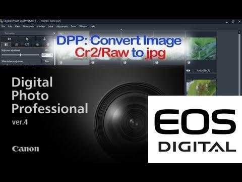Digital Photo Professional (DPP) 4: Convert Image Cr2 to Jpg