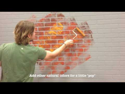 How to Repaint Brick Paneling for a Realistic effect