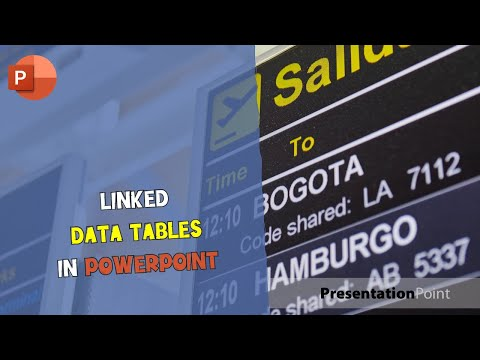 Linked data tables in PowerPoint
