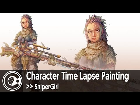 Character Time Lapse Painting | SniperGirl