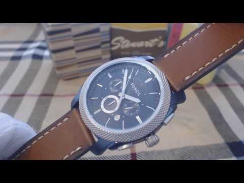 Fossil Machine Brown Leather Band Chronograph Men's Watch FS5232