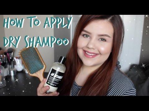 How To: Apply Powder Dry Shampoo! ♡ Dark Hair w/ No White Residue