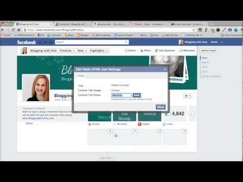How to Install Custom Images for Facebook Timeline Tabs