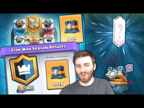 FIRST EVER 1st PLACE CLAN WAR CHEST LEGENDARY! FINALLY!! | Clash Royale NEW GOLD LEAGUE REACHED!!