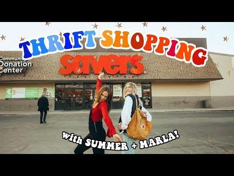 Thrift Shopping with Marla & Summer Mckeen!