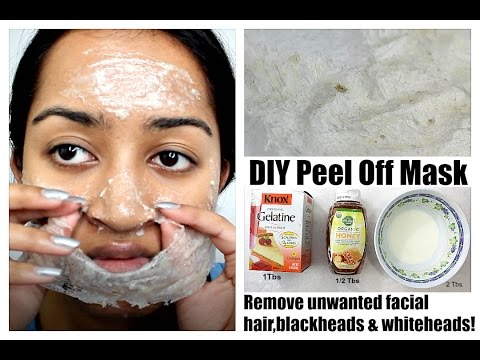 Remove Unwanted Facial Hair, Blackheads & Whiteheads at Home | DIY Peel Off Gelatin Face Mask