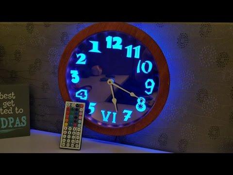 LED Edge Lit Backwards Clock Build