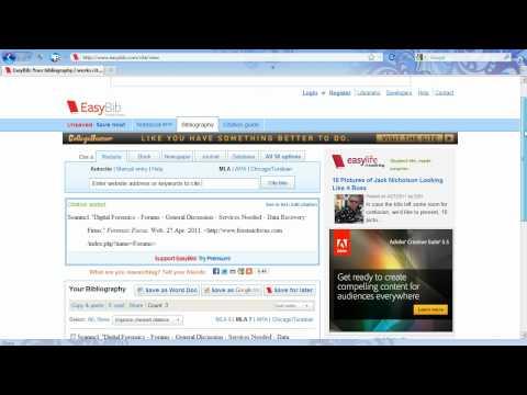 EasyBib Works Cited Page for MLA Citation Format Tutorial