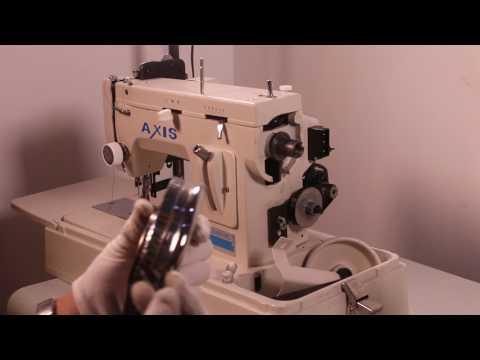 How to change walking foot sewing machine handle wheel to  the flywheel