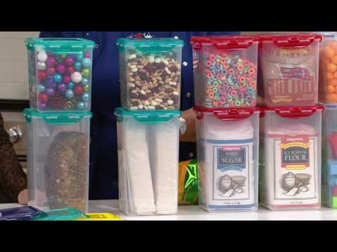Lock & Lock 4 piece Tall Canister Storage Set w/ Color Lids on QVC