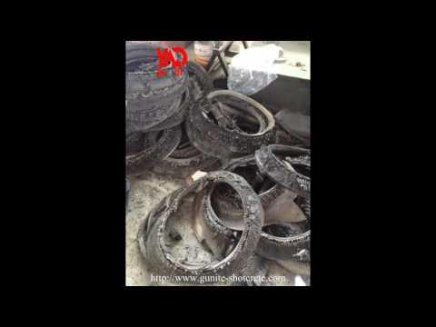 To export tire cutting machine + Nylon tire rim separator machine