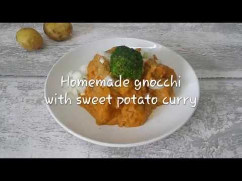 How to Make GNOCCHI with SWEET POTATO CURRY / delicious Vegan Recipe / gluten free option