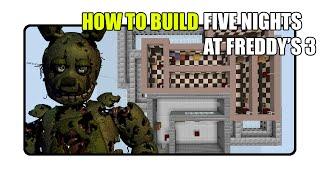 Minecraft Tutorial: Security Puppet (FNAF 6: Freddy
