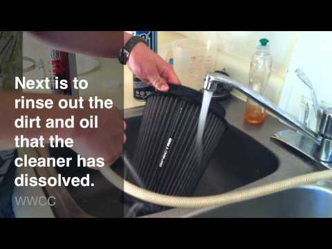Cleaning And Oiling An Air Filter