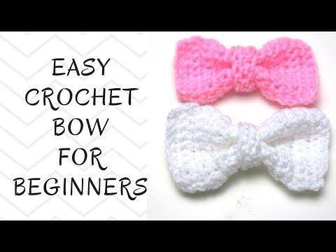 Crochet Tutorial: How To Crochet An Easy Bow
