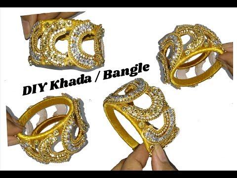 Kadha \ Bangle making with silk thread | jewellery tutorials