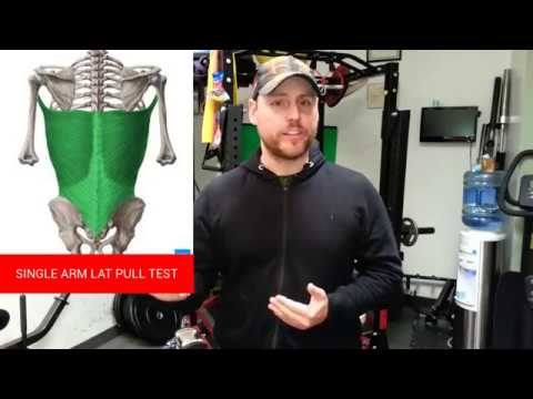 An Effective Self Treatment for Shoulder(Tendonitis, Impingement):Single Arm Lat Pull Test