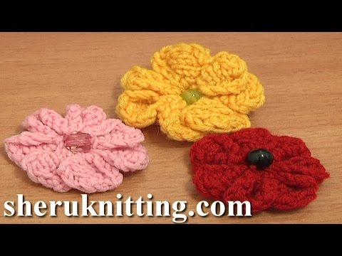 Knitting 7-Petal Flower Tutorial 3 Easy Knitting Patterns