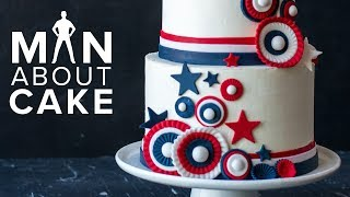 Stars, Stripes & Toasted Marshmallow   Man About Cake AMERICANA CAKE with Joshua John Russell