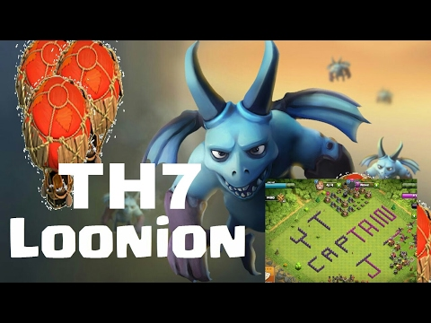 LOONION : TH7 CHEAPEST AIR ATTACK | CLASH OF CLANS