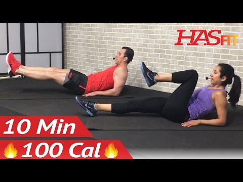 10 Min Lower Ab Workout for Women & Men - 10 Minute Lower Abs Belly Fat Flattener Stomach Workout