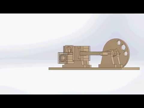 Wooden Air Engine video simulacion