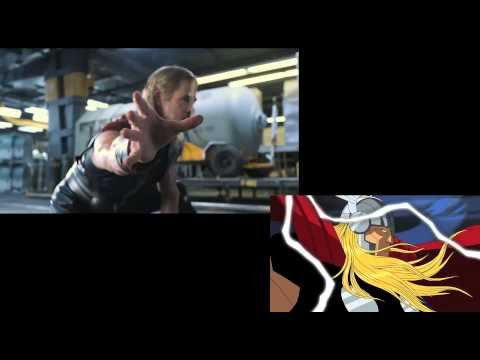 Avengers Earth's Mightiest Heroes/ trailer mash-up Comparison