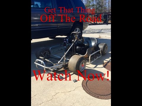 Building The 100 Dollar Racing Go Kart,and Getting Cursed Out