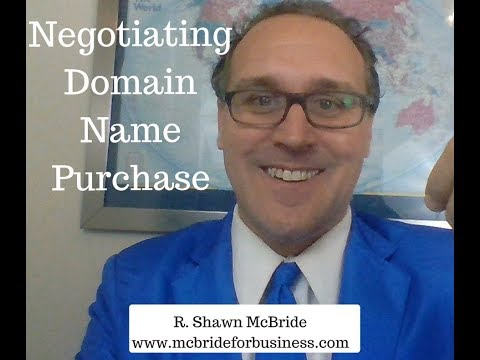 Negotiating a Domain Name Purchase