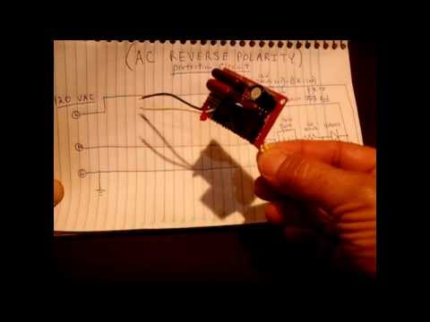 AC Reverse Polarity Indicator/Protection Circuit(120v/240v)