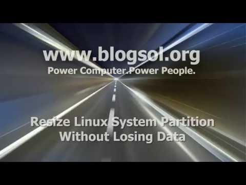 Resize SuSe Linux system partition Without Losing Data