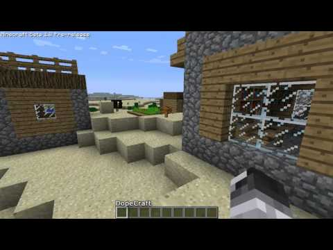 Minecraft 1.8 - NPC Village - Homes - Blacksmith - Well - Gardens