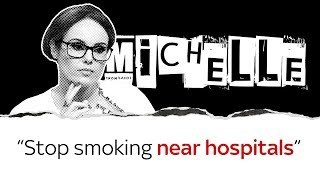 Michelle Dewberry on stopping smoking near hospitals
