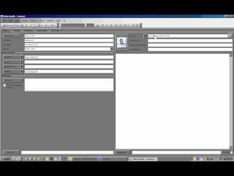 Adding Contacts to Outlook 2003