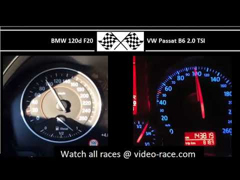 BMW 120d F20 VS. VW Passat B6 2.0 TSI - Acceleration 0-100km/h