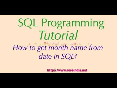 How to get month name from date in SQL?