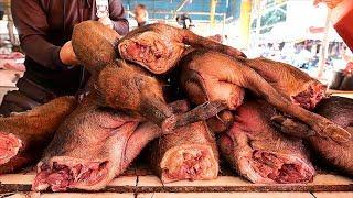 Indonesian Food - WILD PIG Spicy Stir Fry Manado Indonesia