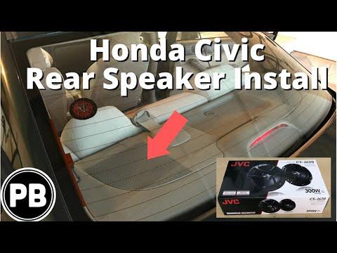 2001 - 2005 Honda Civic Rear Speaker Install JVC 6.5
