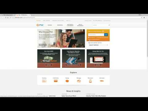 PNC Bank  Online Banking Login Tutorial